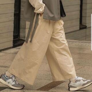 SUNSEA - Classic big pants ecru  ryotakashima