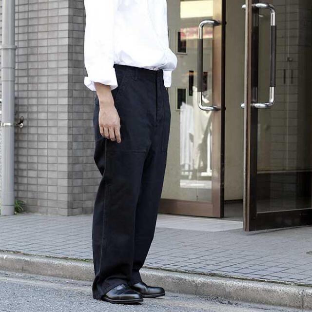 COMOLI(コモリ)のoriko様専用 アプレッセ A.PRESSE M-43 ベイカーパンツ 黒  メンズのパンツ(ワークパンツ/カーゴパンツ)の商品写真