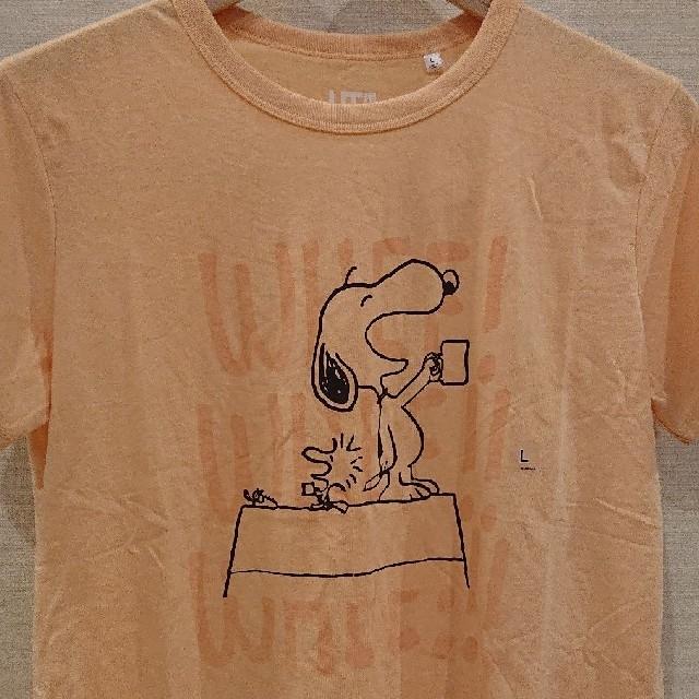 UNIQLO(ユニクロ)のユニクロ  スヌーピー Tシャツ【新品・タグ付き】Lsize  ゆうパケット発送 レディースのトップス(Tシャツ(半袖/袖なし))の商品写真