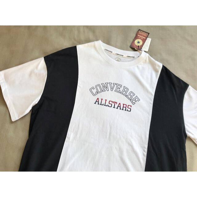 CONVERSE(コンバース)の【新品☆タグ付き】コンバース オールスター オーバーサイズTシャツ L レディースのトップス(Tシャツ(半袖/袖なし))の商品写真