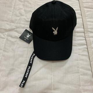 PLAYBOY - プレイボーイ GU コラボ 帽子 キャップ 黒 メンズ 57-61 新品未使用