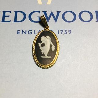 ウェッジウッド(WEDGWOOD)の新品 未使用 希少 ブラック ジャスパー ウェッジウッド ペンダント ヘッド(ネックレス)
