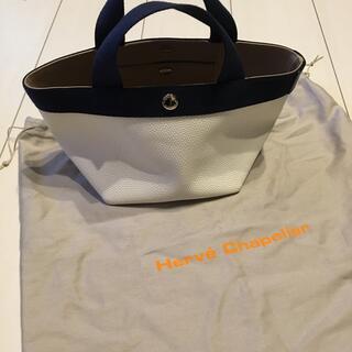 Herve Chapelier - エルベシャプリエ のブラン ×ネイビーのトートバッグ