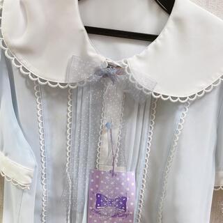 Angelic Pretty - 白えり 水色のブラウス