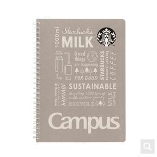 スターバックスコーヒー(Starbucks Coffee)のスターバックス キャンパスリングノート グレー スタバ 手帳 メモ帳 文房具(ノート/メモ帳/ふせん)