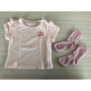 トッカ(TOCCA)の tocca キティちゃんコラボTシャツ 靴下セット(Tシャツ/カットソー)