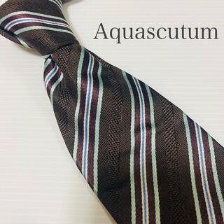 アクアスキュータム(AQUA SCUTUM)の極美品 アクアスキュータム ネクタイ ハイブランド 高級 ビジネス(ネクタイ)