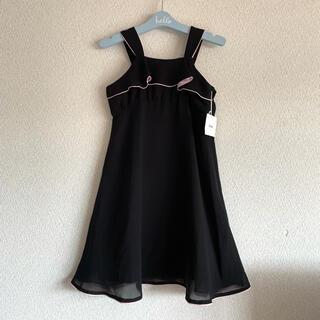 ベベ(BeBe)の【未使用】BeBe べべ♡ワンピースドレス 黒 発表会 フォ-マルドレス♡120(ドレス/フォーマル)