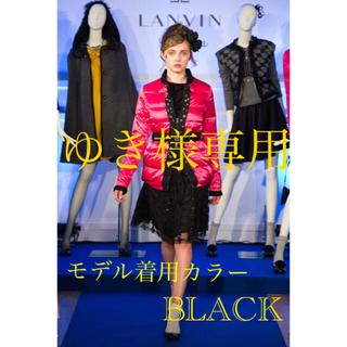 LANVIN en Bleu - 極美品 LANVIN en Bleu コレクションラインリバーシブルスカート 黒