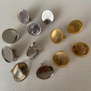 イヤリング金具 丸皿つき 12個