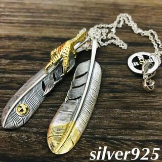 ゴローズ(goro's)のsilver925  金爪 先金フェザー 金メタル ネックレス ゴローズ 好きに(ネックレス)