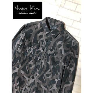 ナンバーナイン(NUMBER (N)INE)のナンバーナイン 04AW ハートトライバル 迷彩 ネルシャツ サイズ3(シャツ)