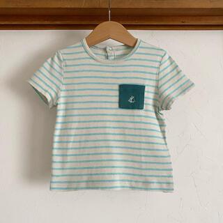 PETIT BATEAU - 美品 プチバトー Tシャツ 18m 81 80 ボーダー トップス
