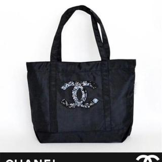 CHANEL - シャネル トートバッグ スパンコール ココマーク ブラック