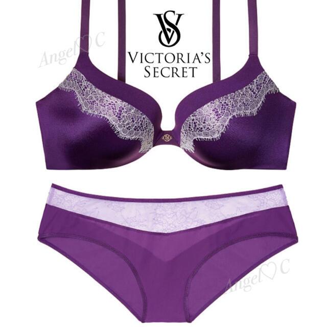 Victoria's Secret(ヴィクトリアズシークレット)の④ ♡VICTORIA'S SECRET♡ブラ32C(D70)&ショーツS2枚 レディースの下着/アンダーウェア(ブラ&ショーツセット)の商品写真