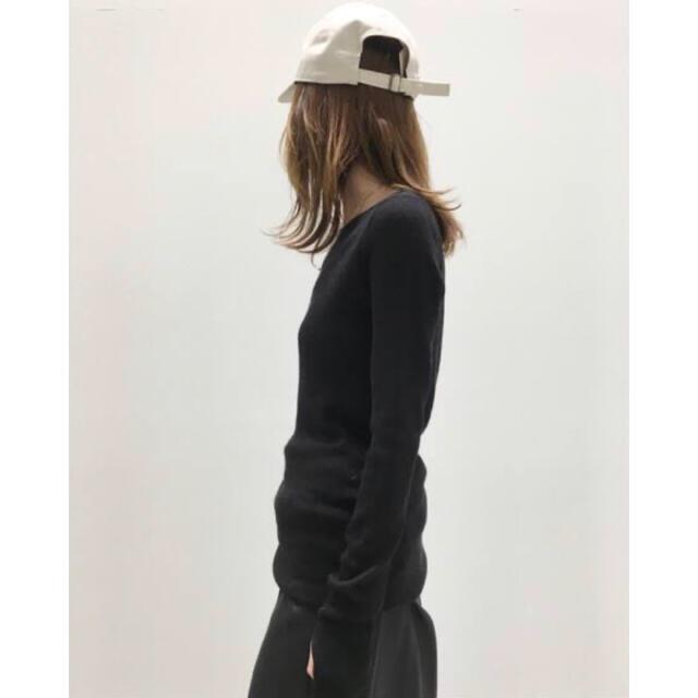 L'Appartement DEUXIEME CLASSE(アパルトモンドゥーズィエムクラス)のりーこ様専用 アパルトモン ボートネック Rib Knit  ブラック レディースのトップス(カットソー(長袖/七分))の商品写真