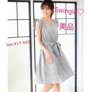 Swingle - 【美品】7/30までお値下げ♡スウィングル♡ヴァニレ♡フリル♡リボン♡ワンピース