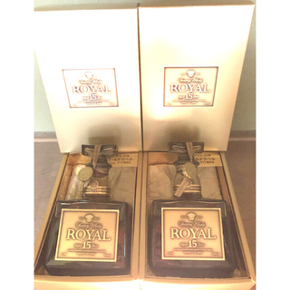 サントリー - 新品 サントリー ウイスキー ローヤル15年 ゴールドラベル 750ml 2本