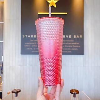 Starbucks Coffee - 【スターバックス海外限定】夏シリーズ第三弾 キラキラタンブラー ピンク