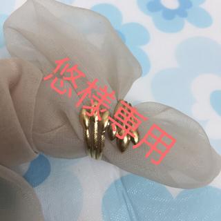 k18 指輪 中古と925指輪二つセット(リング(指輪))