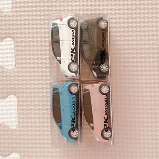 ミツビシ(三菱)の[未開封]ek wagon ワゴン 4セット おもちゃ 自宅保管 未使用(ミニカー)