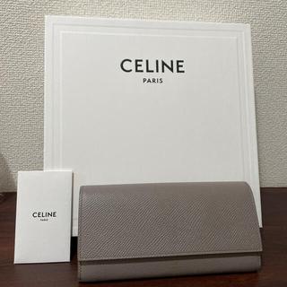セフィーヌ(CEFINE)の美品♡CELINE ラージ フラップウォレット グレインドカーフスキン ペブル(財布)