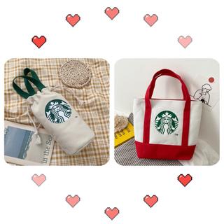 Starbucks Coffee - 【スターバックス海外限定】 日本未発売 トートバッグ  エコバッグ バック 赤色