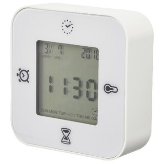 IKEA - IKEA 多機能置き時計 ホワイト アラーム 温度計 タイマー デジタル