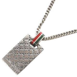 Gucci - グッチ チェーンネックレス ロゴ スクエア スターリングシルバー J4325