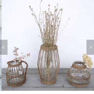 ラタン フラワーベース 花瓶 インテリア 籐 フランフラン アントリー (花瓶)