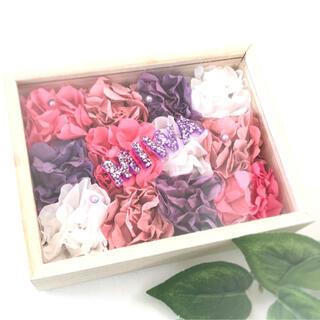 【贈り物に】ペパナプフラワー フラワーボックス 名入れ 名前入り 紫 ピンク (その他)
