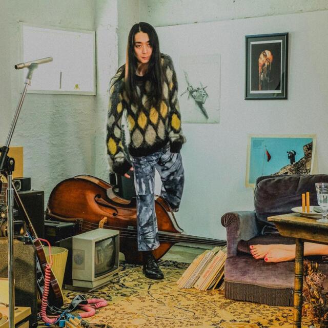 SUGARHILL MOHAIR PYHCH KNIT(GREEN) メンズのトップス(ニット/セーター)の商品写真