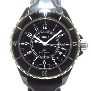 シャネル(CHANEL)のシャネル 腕時計 J12 H0683 レディース 黒(腕時計)