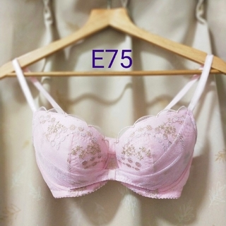 ウンナナクール(une nana cool)のウンナナクール E75 ワイヤーブラ ピンク レース ワコール ブラジャー(ブラ)