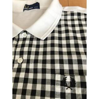 フレッドペリー(FRED PERRY)の1度着用 フレッドペリー コンビ素材 ポロシャツ メンズM   定価14300円(ポロシャツ)