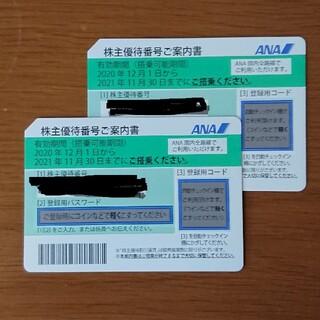 ANA株主優待券 2枚(航空券)