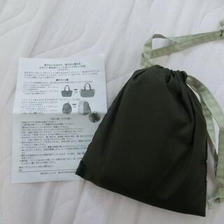傘生地 リュック&バッグカバー ブラウン×ベージュ フェリシモ(旅行用品)