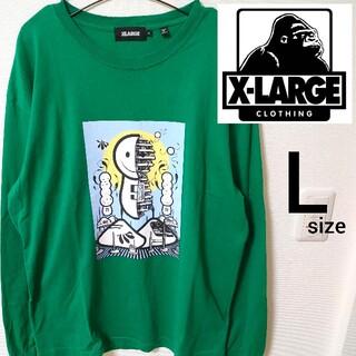 XLARGE - エクストララージ グリーン メンズ L 長袖Tシャツ カットソーX-LARGE