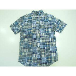 ウエアハウス(WAREHOUSE)の55ss ウエアハウス WAREHOUSE半袖パッチワークボタンダウンシャツ/S(Tシャツ/カットソー(半袖/袖なし))