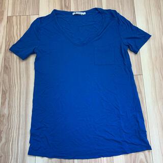 アレキサンダーワン(Alexander Wang)のアレキサンダー ワン Vネック Tシャツ 胸ポケット 半袖 S(Tシャツ(半袖/袖なし))