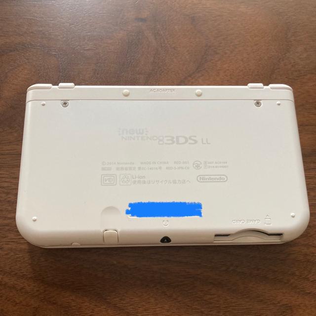 ニンテンドー3DS(ニンテンドー3DS)の【美品】偽トロ付き Newニンテンドー3DS LL 白 エンタメ/ホビーのゲームソフト/ゲーム機本体(携帯用ゲーム機本体)の商品写真