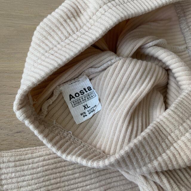 futafuta(フタフタ)の韓国子供服 AOSTA ベージュレギンス キッズ/ベビー/マタニティのベビー服(~85cm)(パンツ)の商品写真