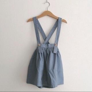 キャラメルベビー&チャイルド(Caramel baby&child )のjune little closet サスペンダースカート 100 新品(スカート)