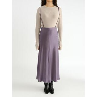 Mila Owen - mila owen  サスペンダー付きサテンナローロングスカート