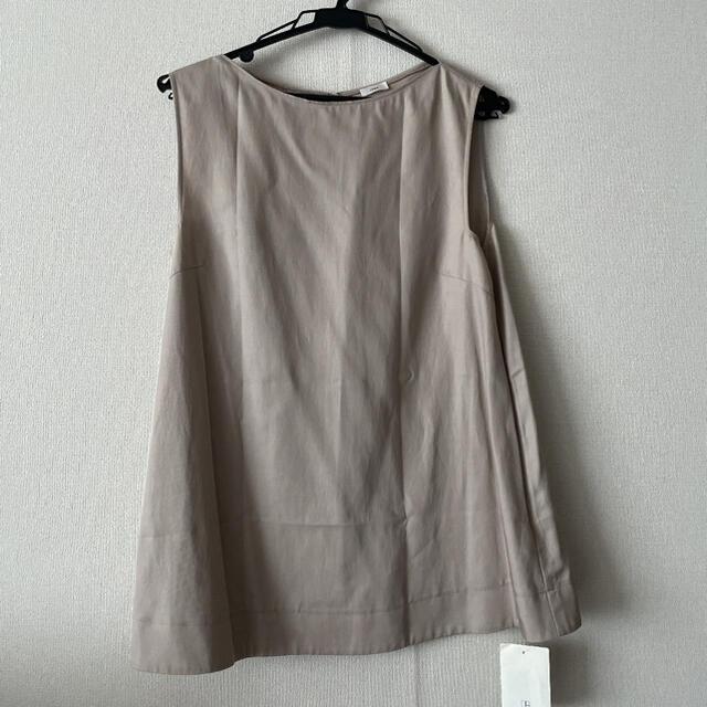 IENA(イエナ)の新品未使用!iena ボートネックノースリーブトップス レディースのトップス(カットソー(半袖/袖なし))の商品写真