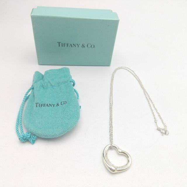 Tiffany & Co.(ティファニー)のG-98 美品 Tiffany&Co./ティファニーオープンハート ネックレス レディースのアクセサリー(ネックレス)の商品写真