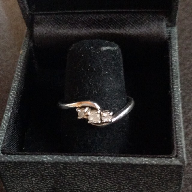 pt100■ダイヤモンド■0.12ctリング19号? レディースのアクセサリー(リング(指輪))の商品写真
