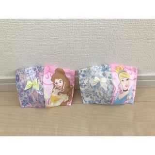 マスク(THE MASK)のインナーマスク 可愛い 女の子 レースリボン付き 2個セット☆(外出用品)