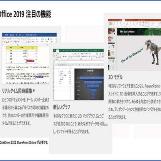 Microsoft(マイクロソフト)のMac版 1PC用/ Office 2019 Home & Business スマホ/家電/カメラのPC/タブレット(デスクトップ型PC)の商品写真