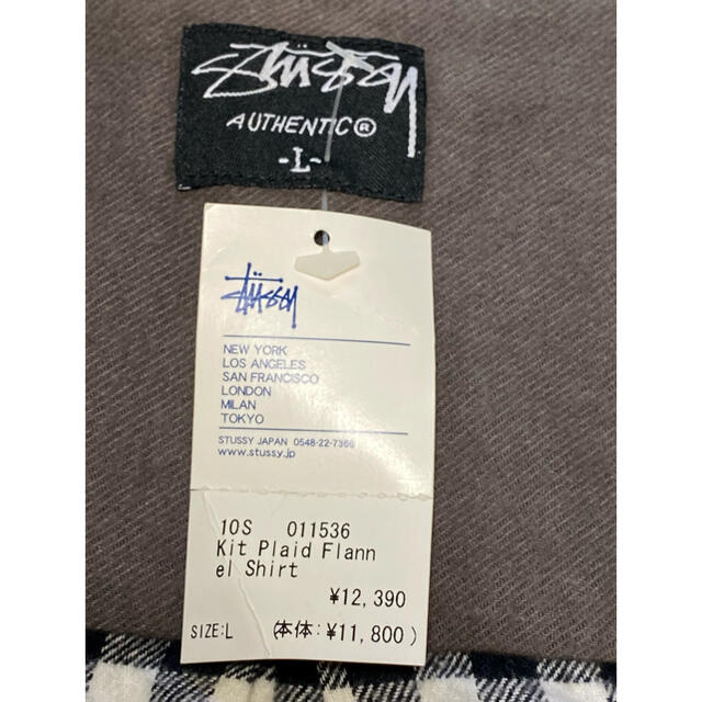 STUSSY(ステューシー)の新品! ステューシー  半袖 ネルシャツ メンズのトップス(シャツ)の商品写真